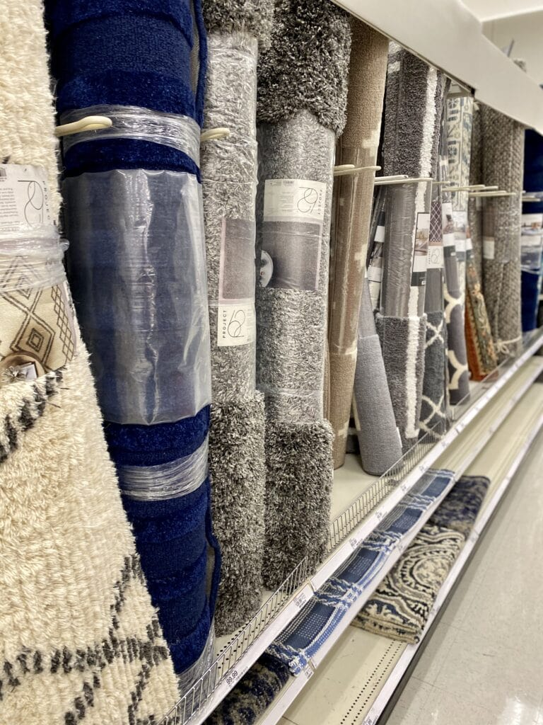 Target Area Rugs in Store