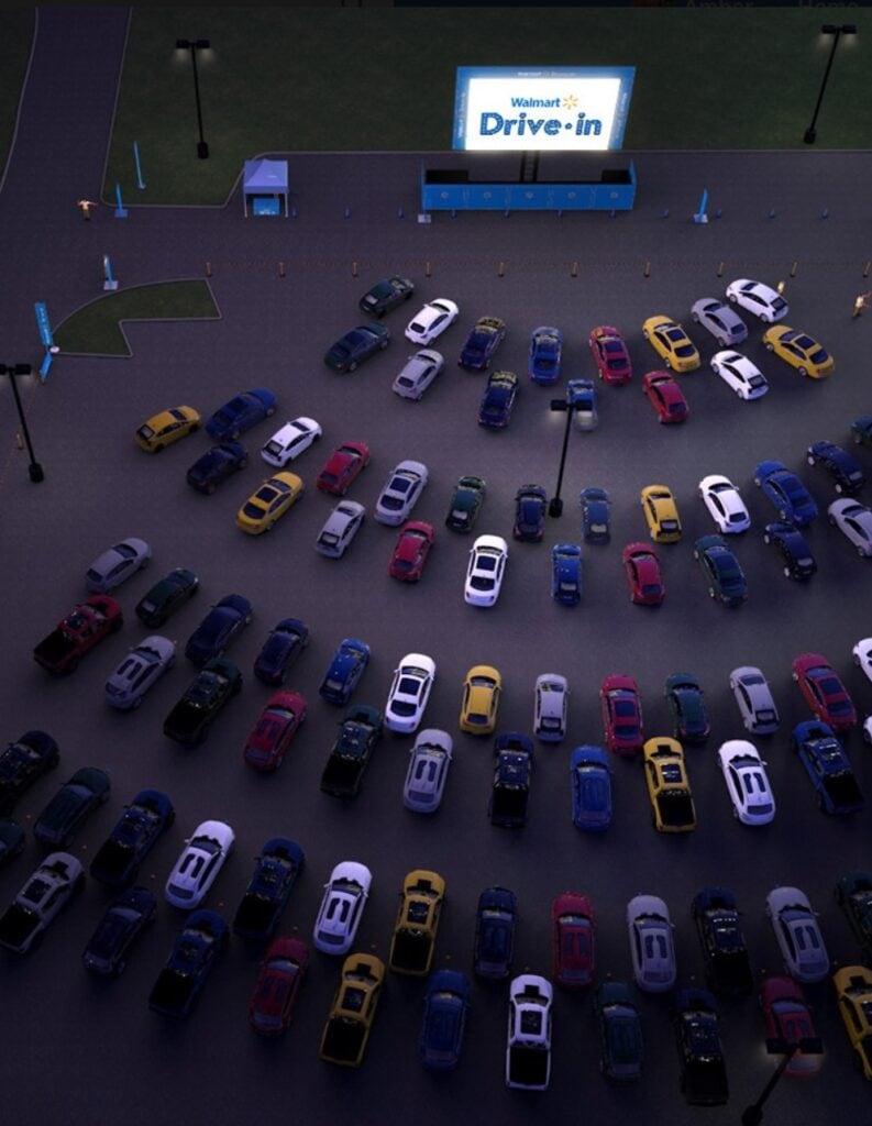 Walmart Drive In Parking Lot