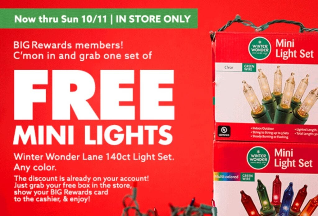 Big Lots Rewards Freebie