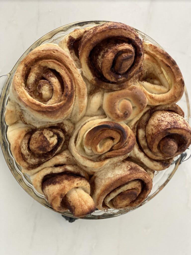 rolls before adding vanilla frosting