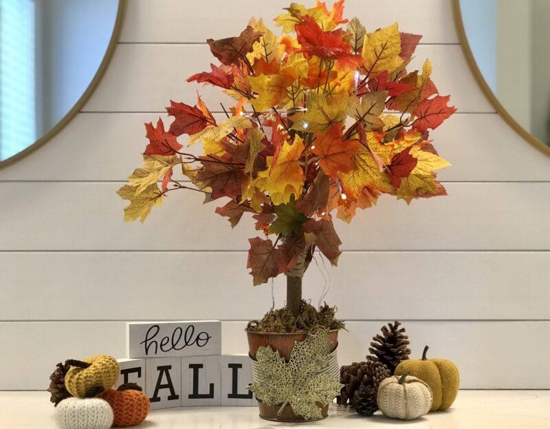 DIY Fall Leaves Tree