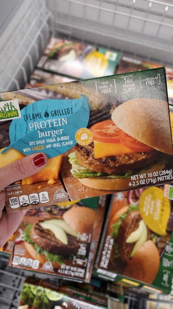 frozen protein burgers