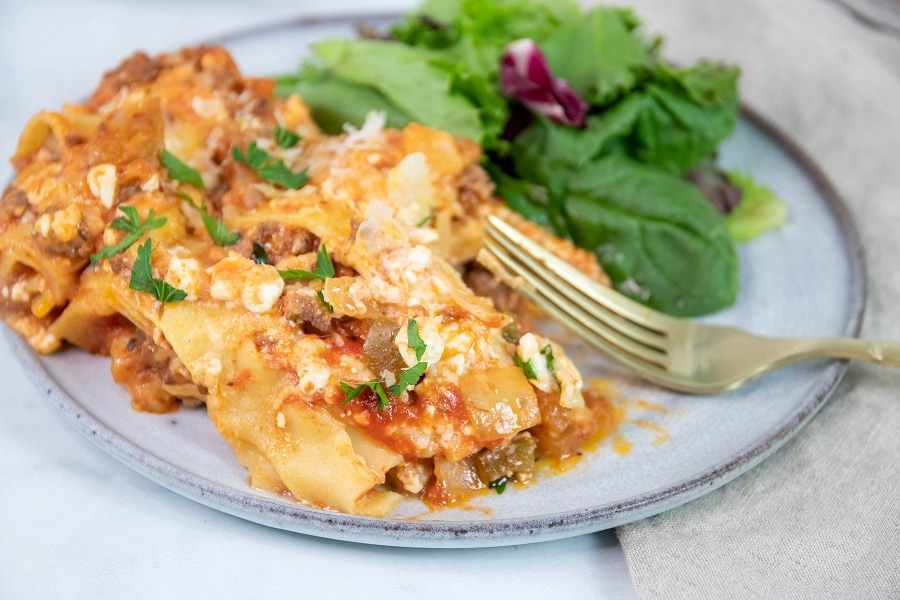 Lasagna Finished on Plate