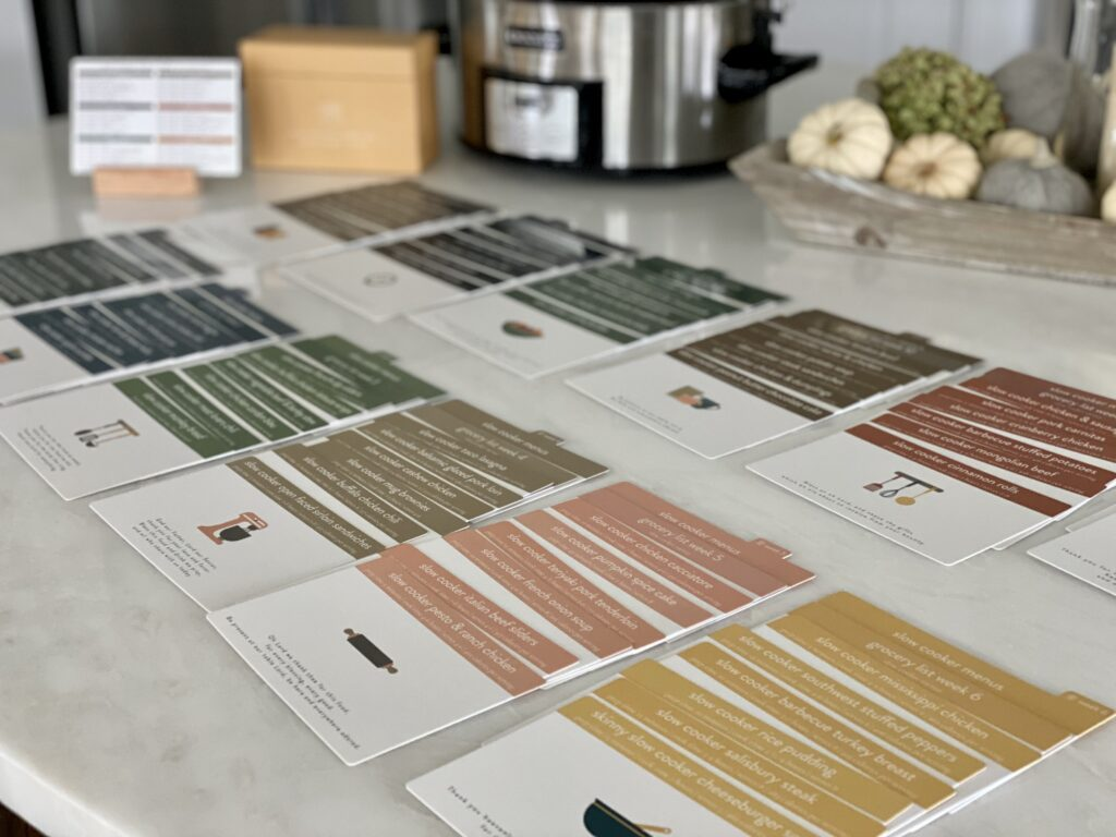 Recipe Cards on counter