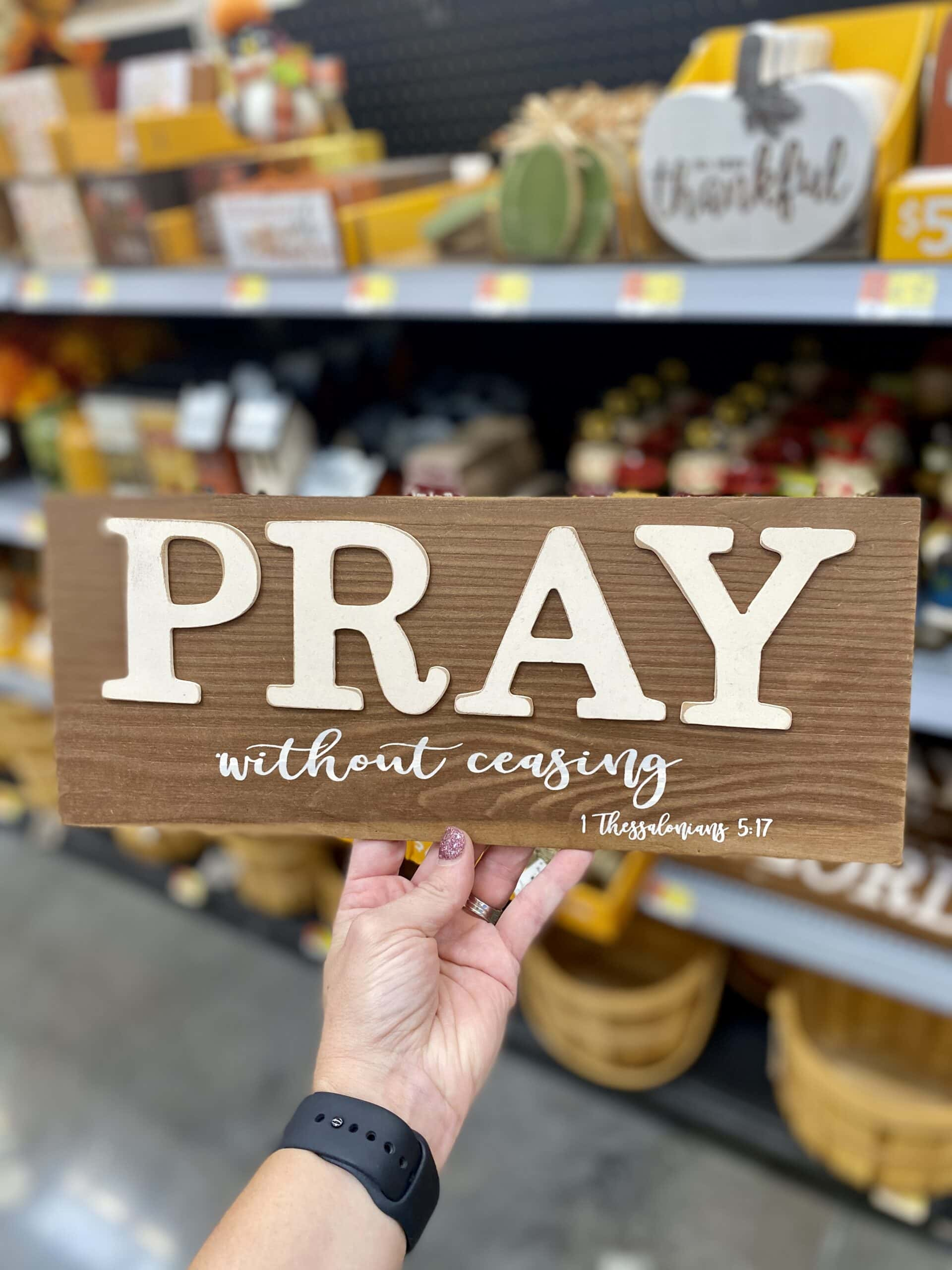 pray without ceasing walmart fall decor