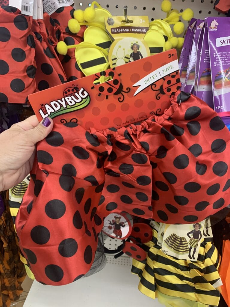 Skirts for Halloween Costumes from Dollar Tree