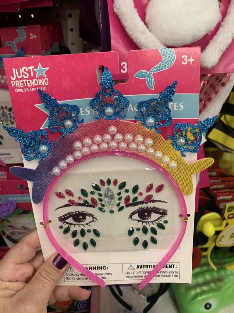 Tiara and Face Stickers for Halloween Costumes