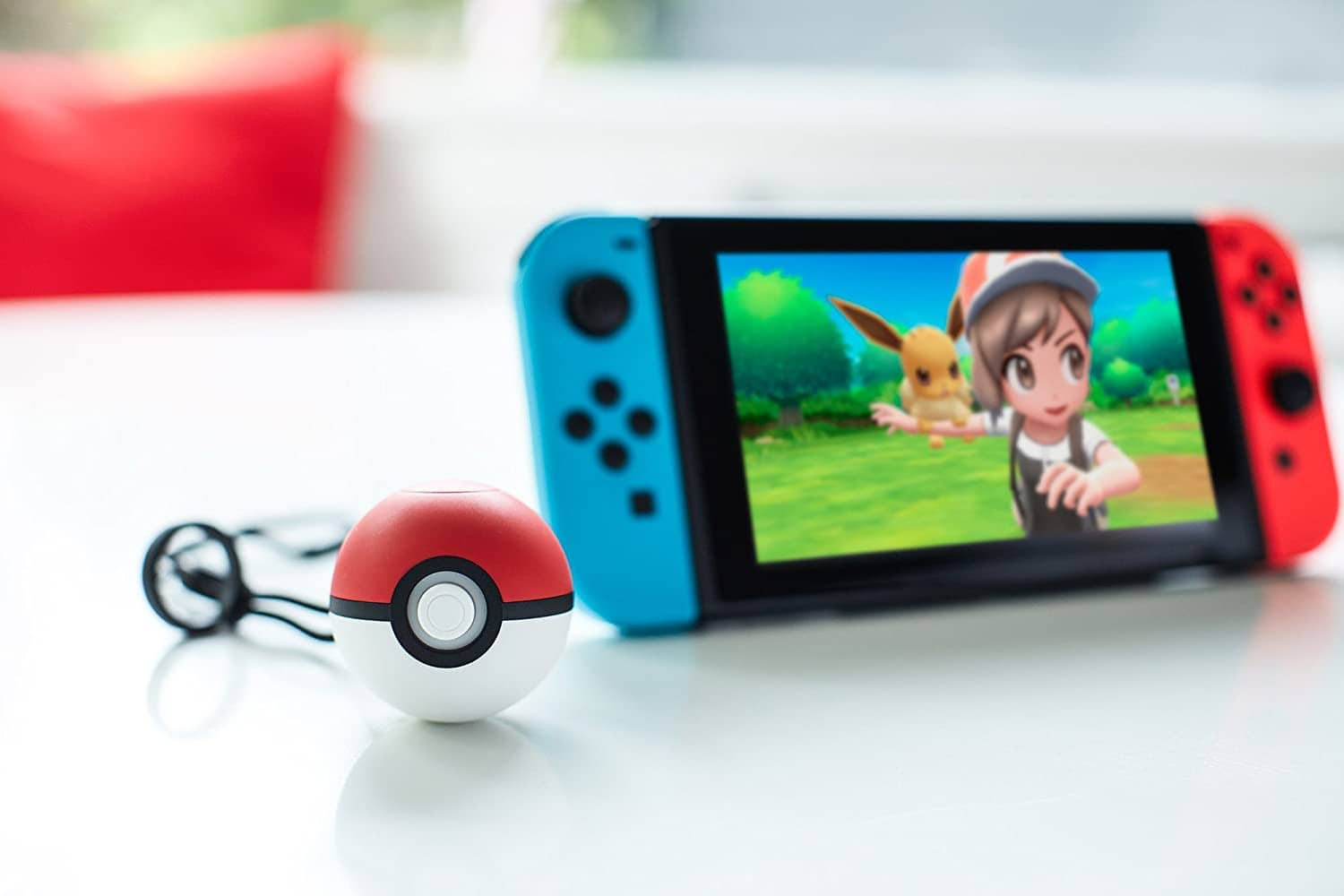 Nintendo Switch Games on Console with Pokeball