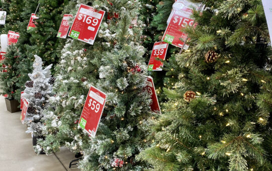 walmart christmas trees