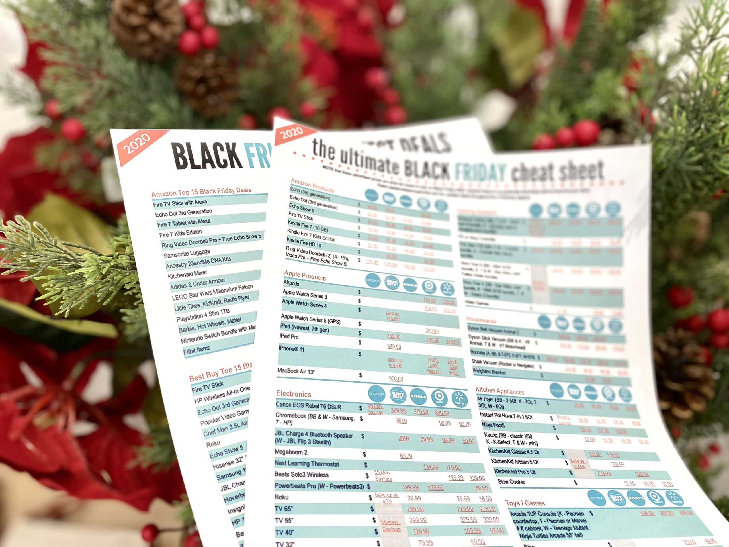 black friay cheat sheet