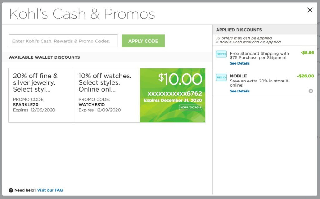 How Does Kohl's Cash Work on Online Orders