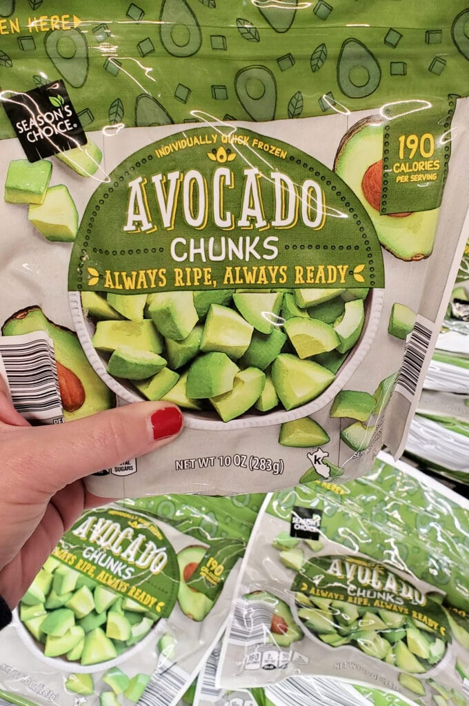 frozen avocado at aldi