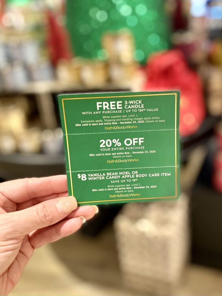 bath body works semi-annual sale mailer coupon