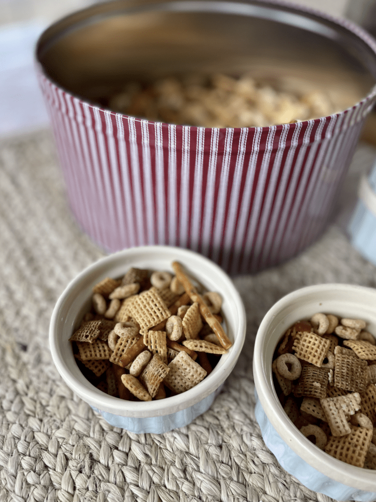 Chex Mix in Bowls