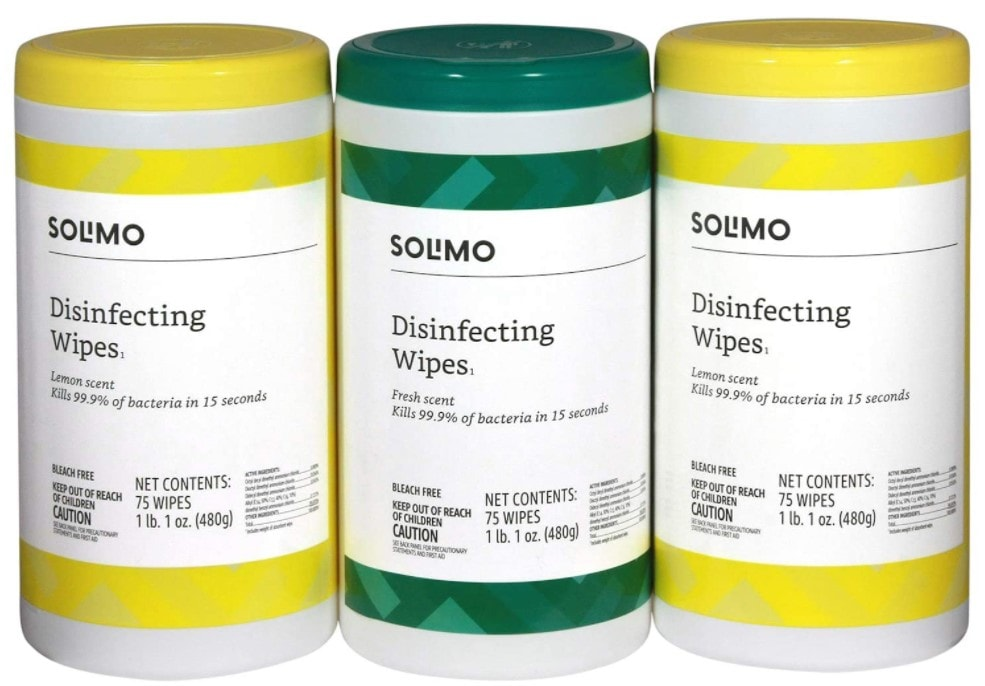 pack of solimo wipes