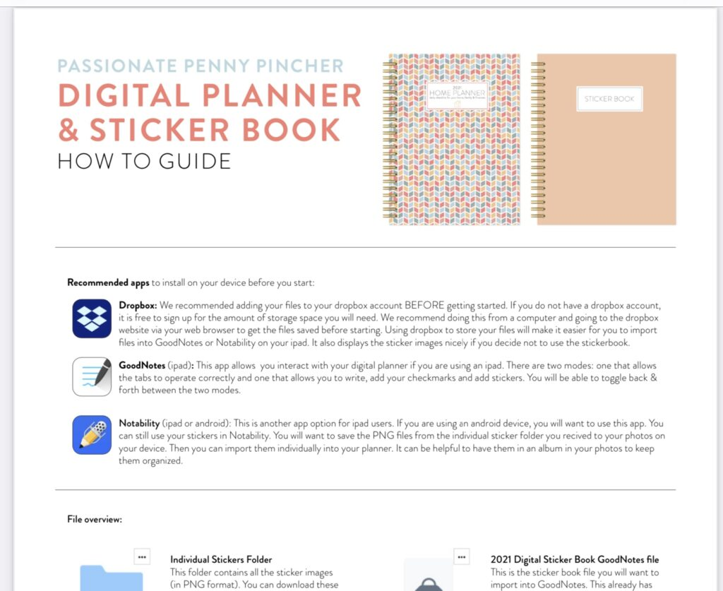 Digital Planner and Sticker Book How To Guide Overview