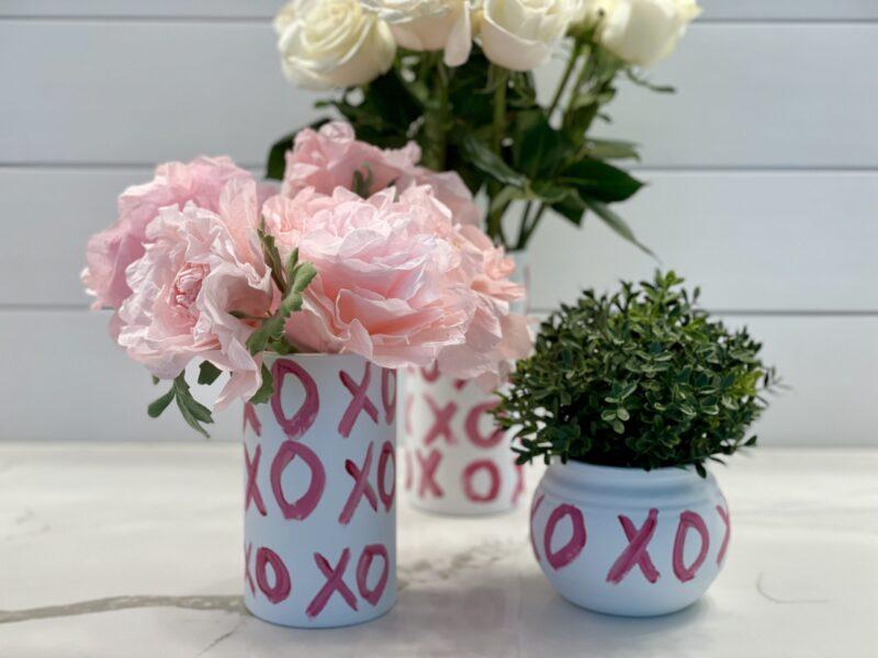 Dollar Tree Valentine Vase