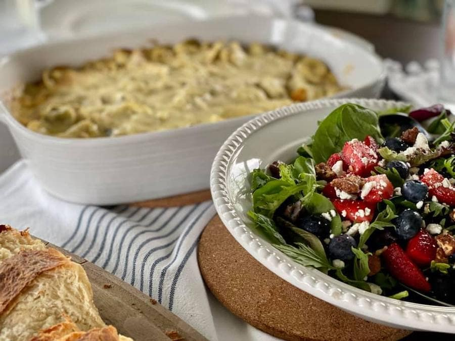 Pesto Tortellini Bake