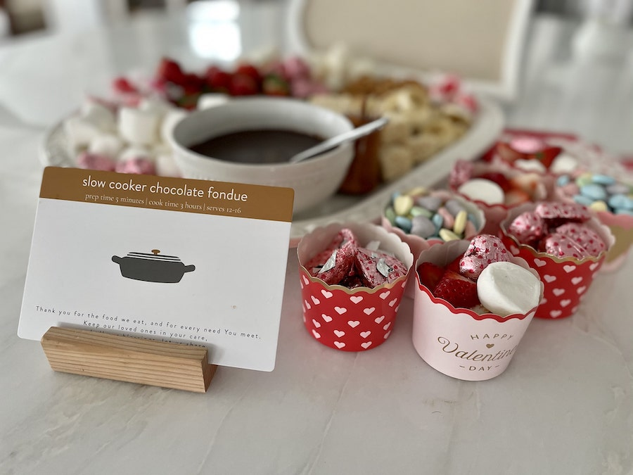 Slow Cooker Chocolate Fondue Platter