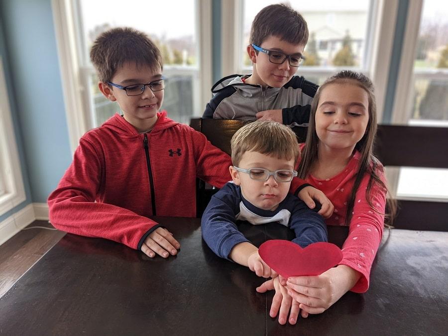 valentine's day scavenger hunt with kids