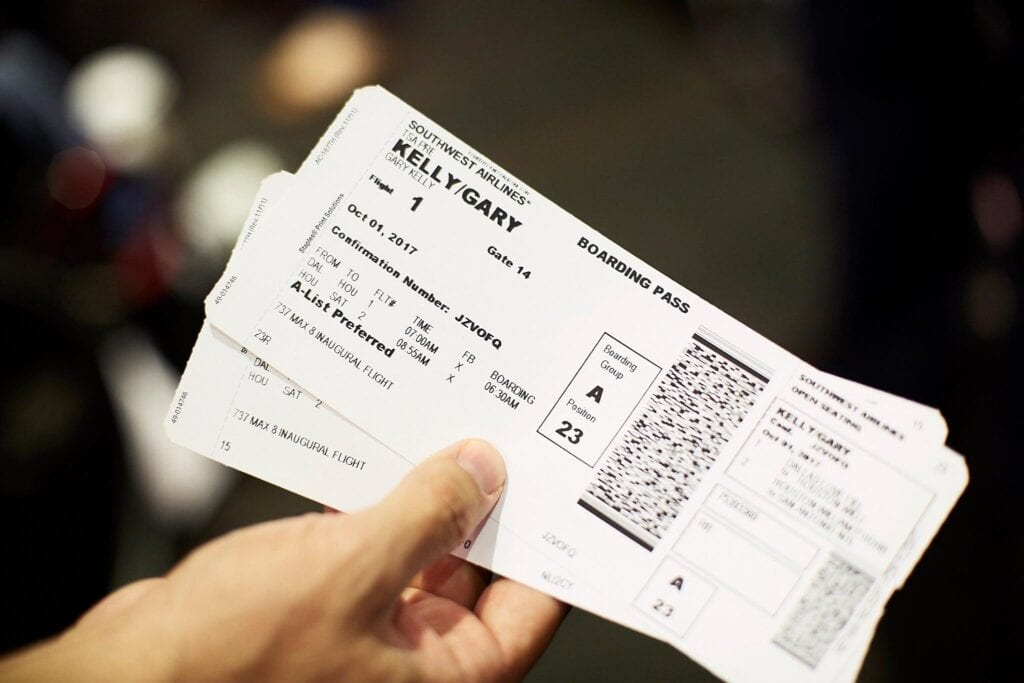 boarding pass travel on a budget use points