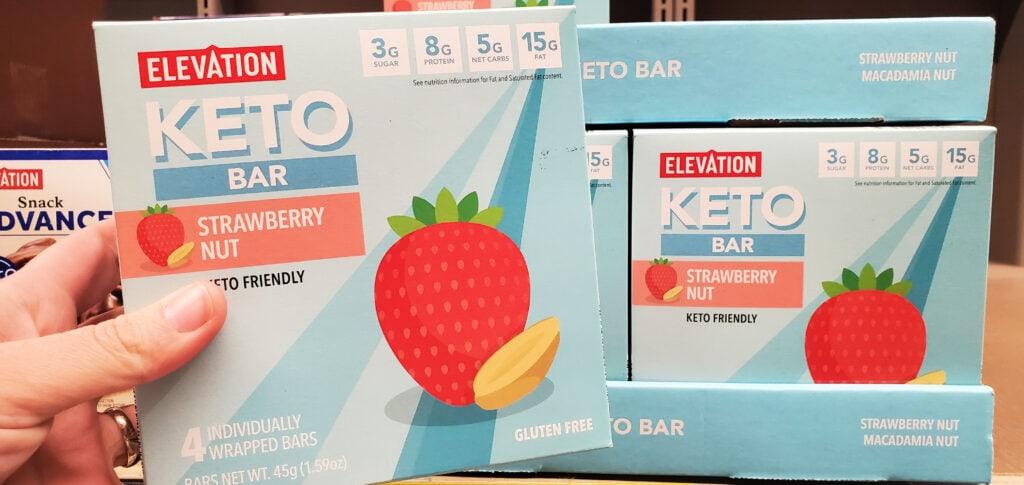 strawberry keto bar