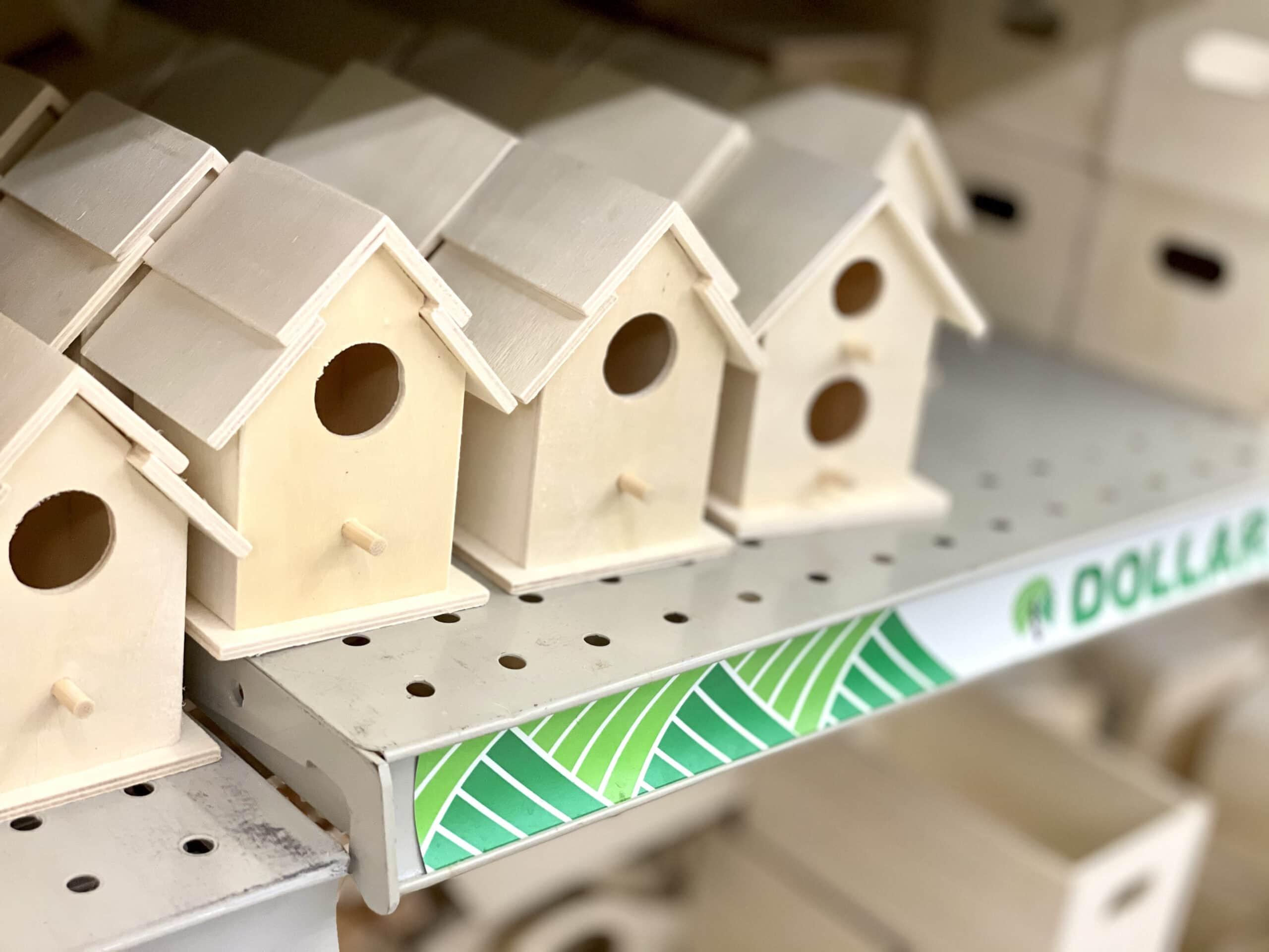dollar tree bird houses