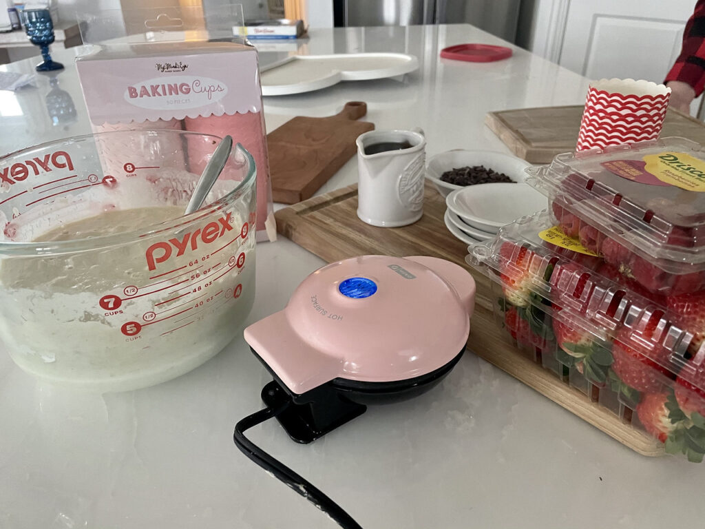 Ingredients to get started on your waffle bar