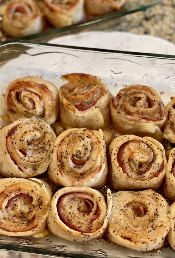 Baked Ham and Cheese Pinwheels