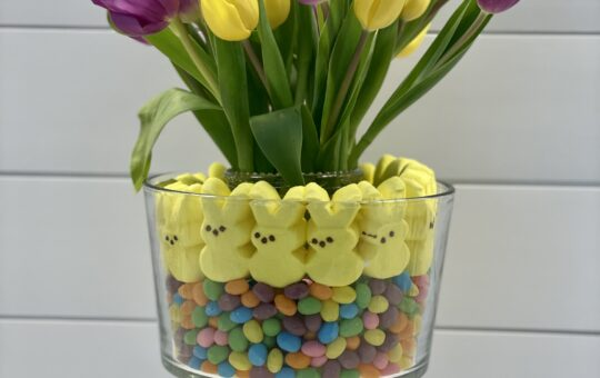 Peeps Easter Centerpiece with Tulips