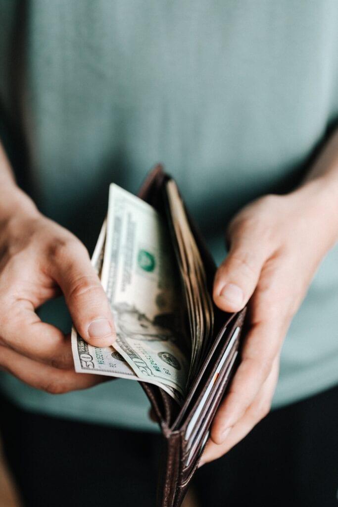 third stimulus check money in a wallet