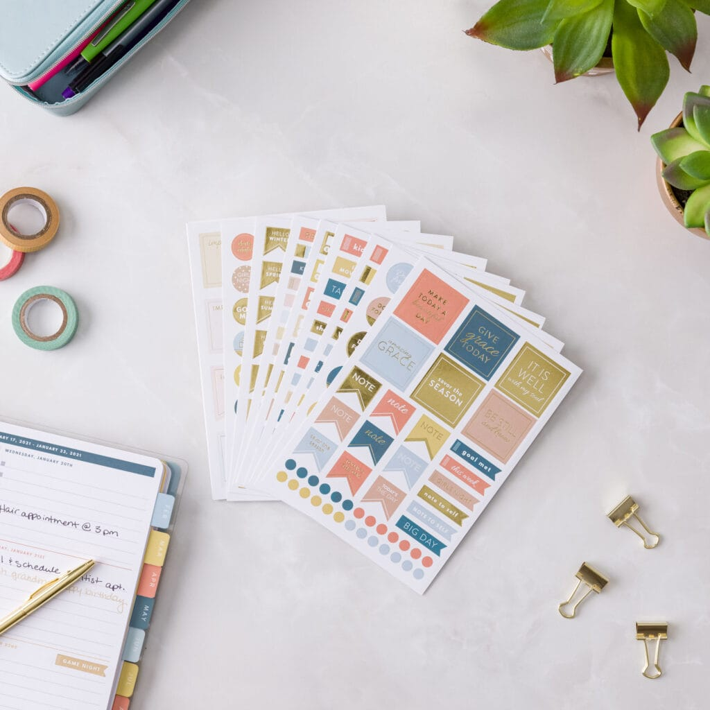 Planner Stickers with Planner
