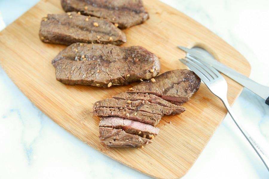 Steak Resting on Cutting Board