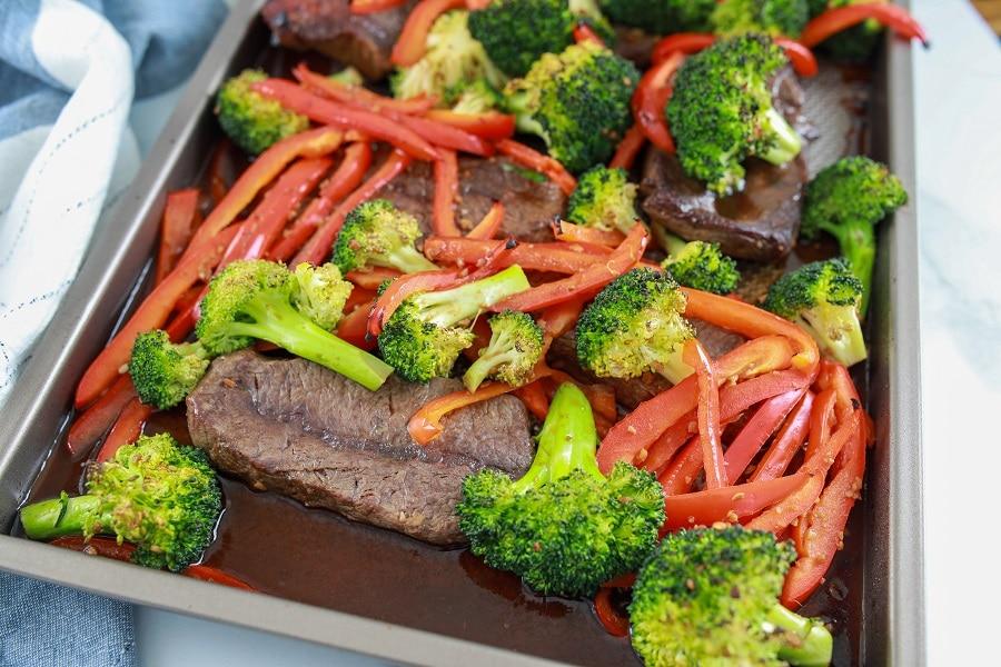 One Pan Asian Steak Marinade with Veggies