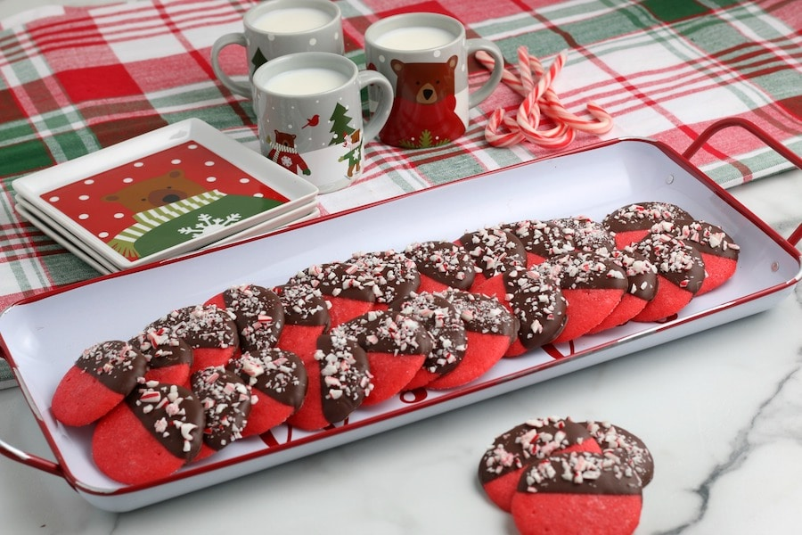 Peppermint Cookies on a Tray