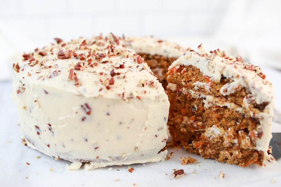 Best Carrot Cake Recipe Cake Frosted and Finished