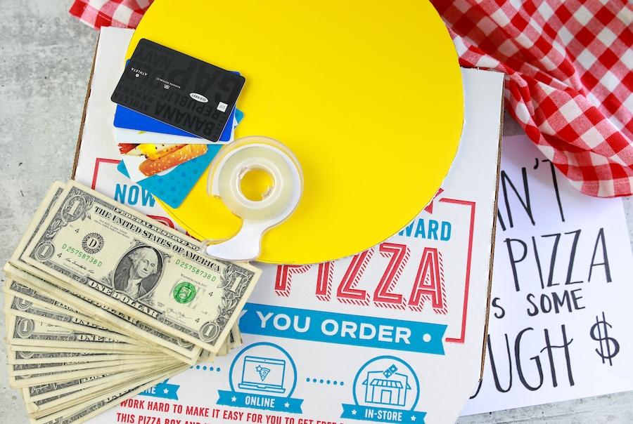 Graduation Gift Pizza Box Supplies