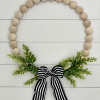 Try this DIY Wood Bead Wreath (Absolutely Darling!)