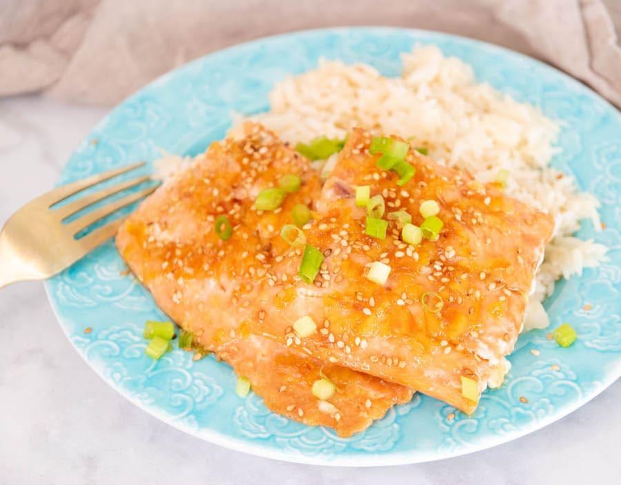 Orange Glazed Grilled Salmon Recipe