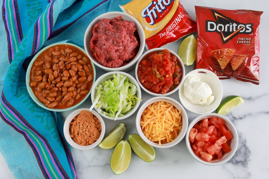 Walking tacos ingredients