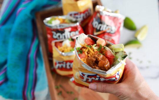 Walking Tacos in a Frito Bag