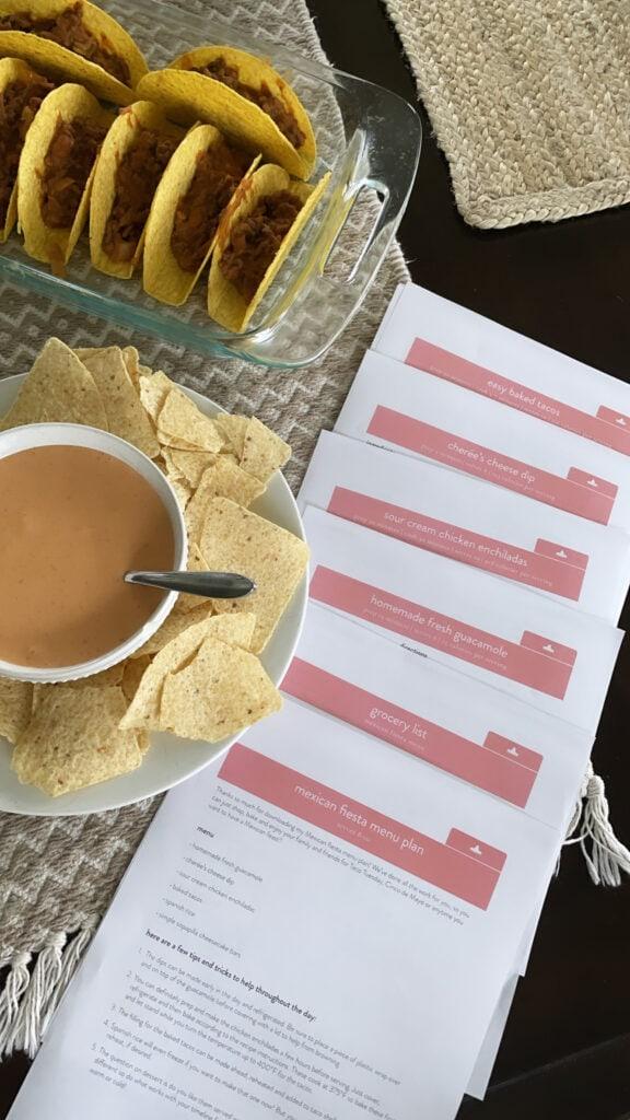 fiesta menu plan