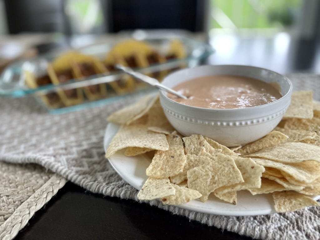 Cheese Dip Served Cold