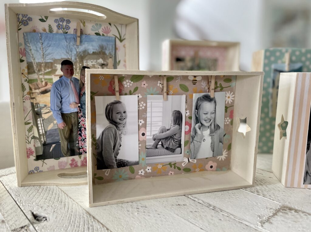 dollar tree crafts for mother's day - wooden photo craft