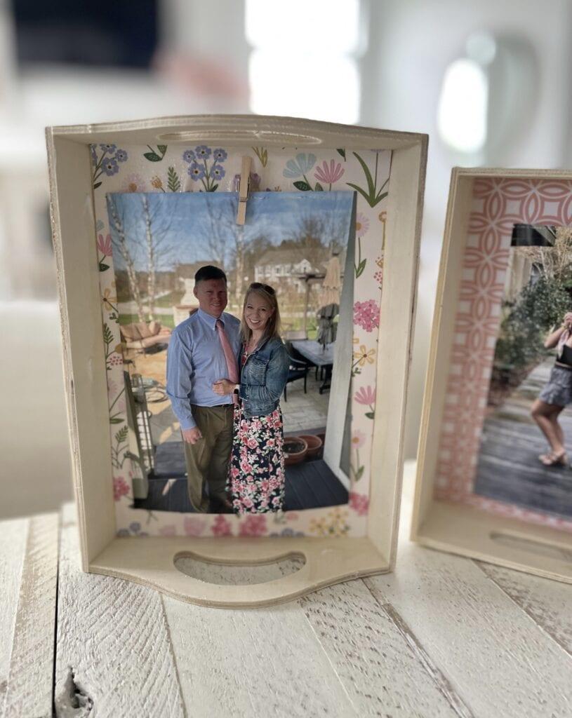 photo tray from items at dollar tree