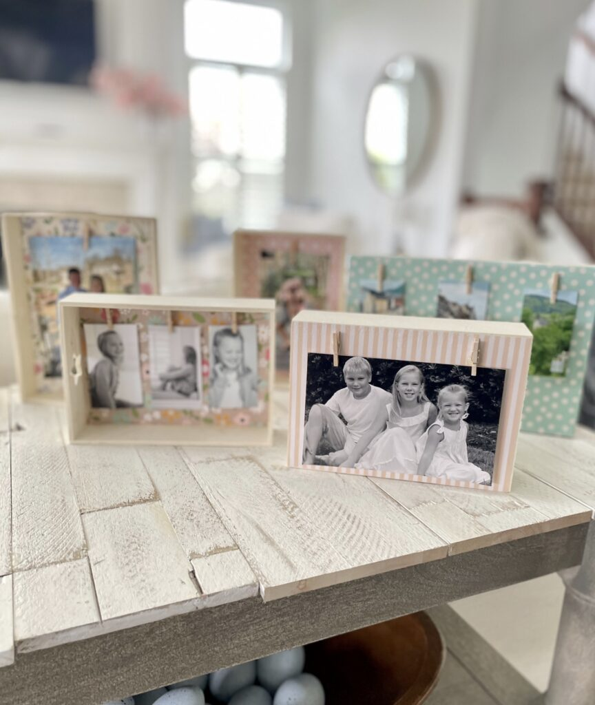 Photo crafts using items from dollar tree