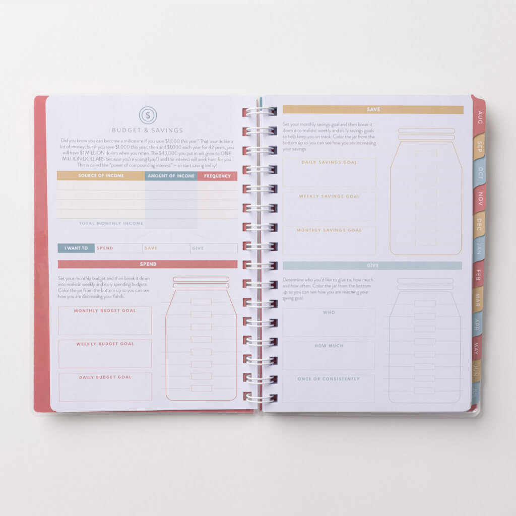 2021-2022 Academic Planner Budget Savings Pages