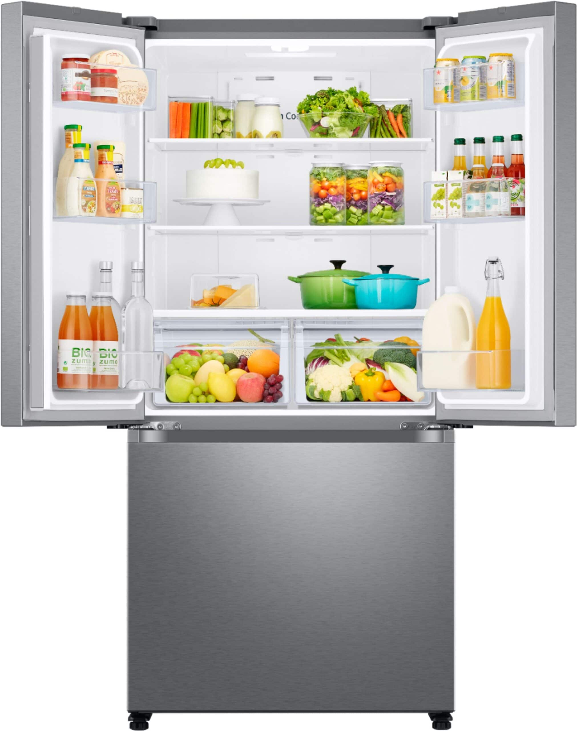 fridge filled food