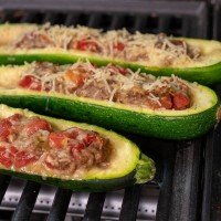 Sausage Stuffed Zucchini (Get This One on the Grill TONIGHT!)