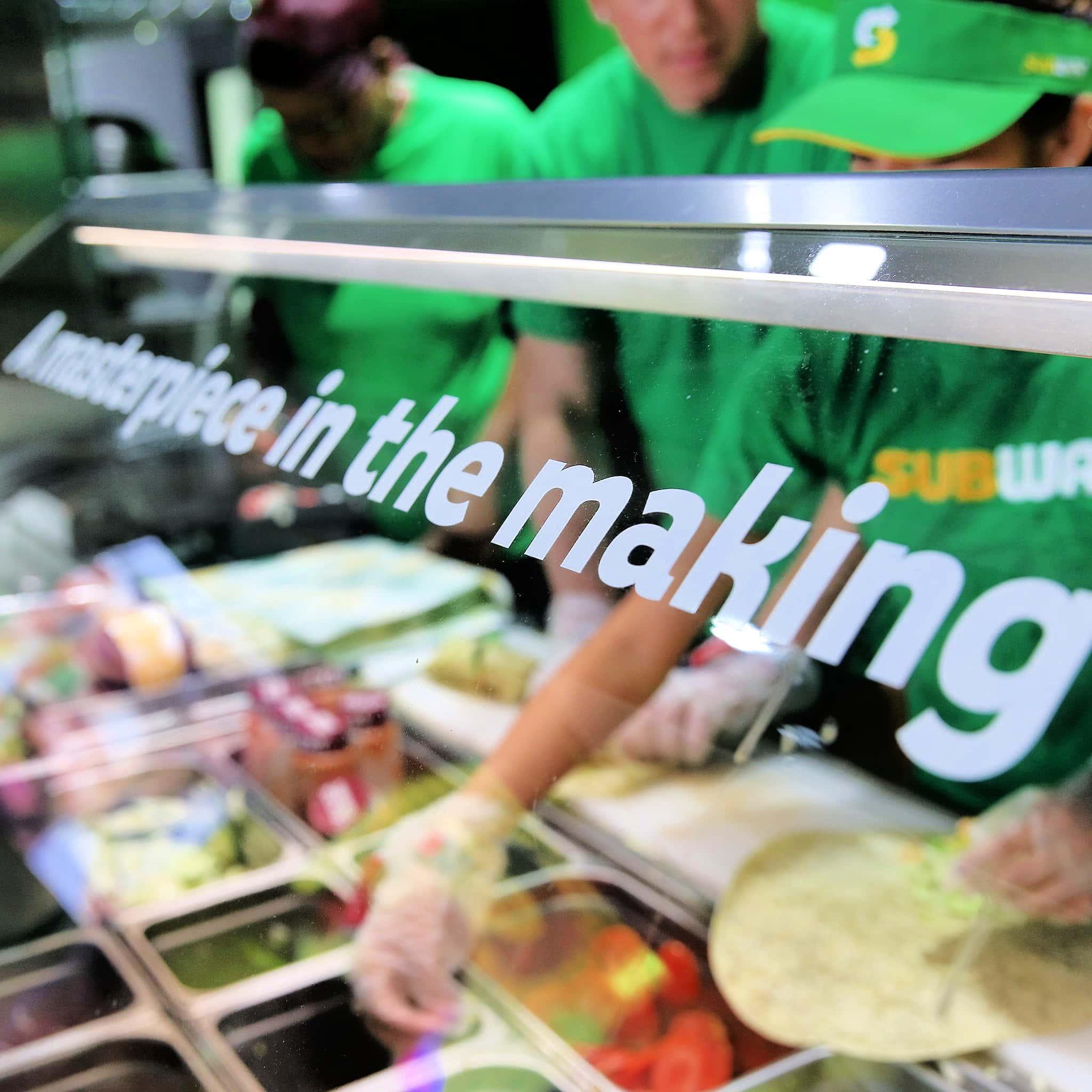 subway veggies and toppings